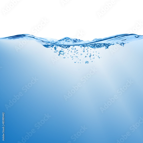 Fotografia Wave with splash on the water surface.