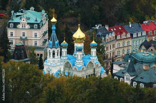Obraz na plátně  The orthodox church of Saint Peter and Paul in Karlovy Vary, Czech republic