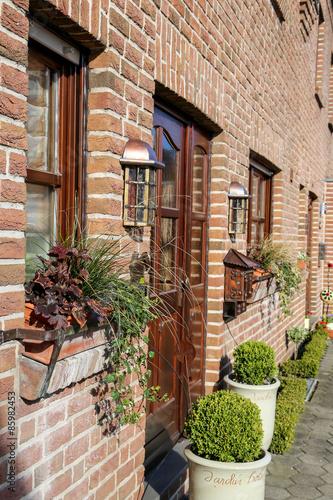Fototapety, obrazy: façade maison allemande