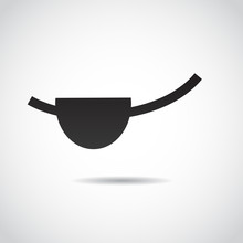 Pirate Eye Patch. Vector Art.