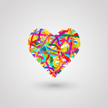 Abstract Heart Made Of Colorfu...