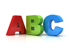 3d Abc Letters Isolated Over W...