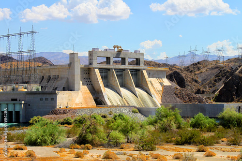 Garden Poster Dam Davis Dam located on the Colorado River near Laughlin Nevada