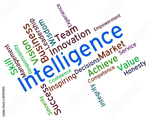 Intelligence Words Represents Intellectual Capacity And Ability Wallpaper Mural