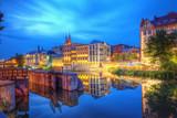 Fototapeta Miasto - Opole widok miasta nocą