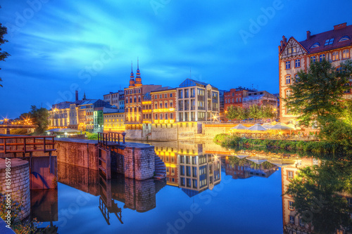 Fototapeta Opole widok miasta nocą obraz