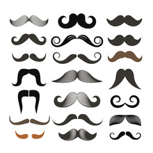 Different Retro Style Moustach...