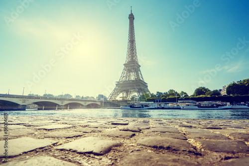 In de dag Eiffeltoren Eiffel tower, Paris. France