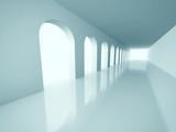 Fototapeta Fototapety przestrzenne i panoramiczne - Abstract Architecture Corridor Interior Background