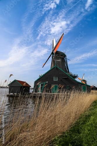 Spoed Foto op Canvas Molens les moulins de Zaanse Schans