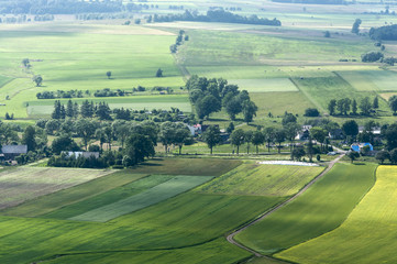 Panel Szklany Podświetlane Wiejski Krajobraz wiejski