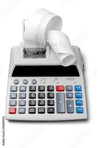 Calculator, Adding Machine Tape, Finance. - 86014432