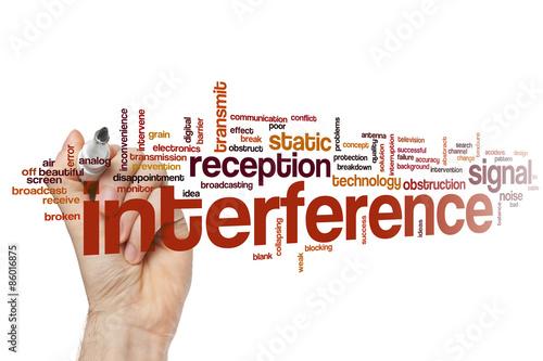 Fotografie, Obraz  Interference word cloud