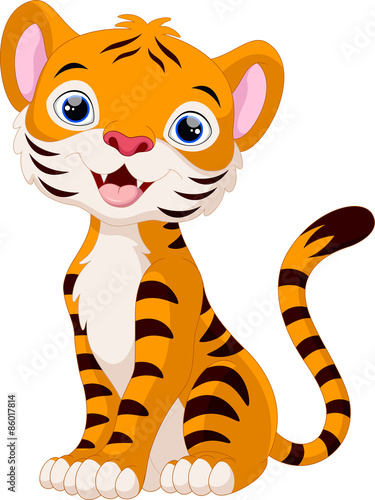 Cute tiger cartoon - Buy this stock vector and explore ...