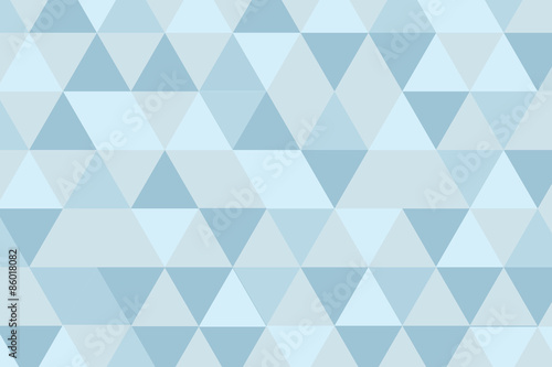 Fotografie, Obraz  bluegray triangle poly background