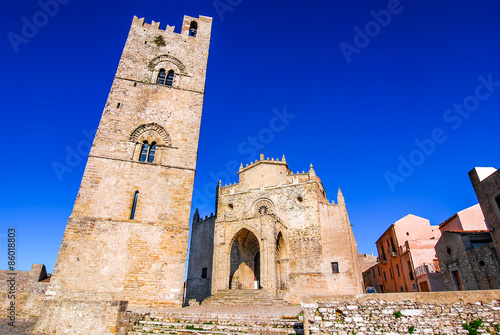 Fotografie, Obraz  Sicily, Italy, tower of Erice Cathedral