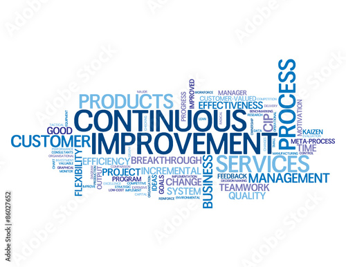 continuous improvement vector tag cloud buy this stock vector and