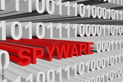 Fotografía  binary code spyware