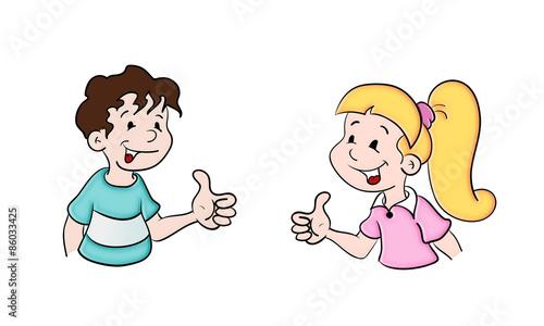 Schulkind m dchen junge kaufen sie diese illustration for Nett babyzimmer madchen und junge