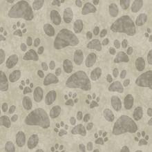 Brown Dog Paw Prints Tile Patt...