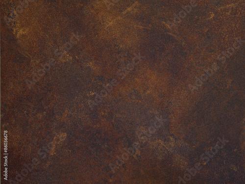 Fotografia Tischplatte braun Rost Metall Eisen