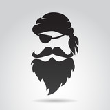 Pirate face. Vector illustration.
