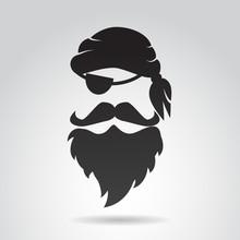 Pirate Face. Vector Illustrati...