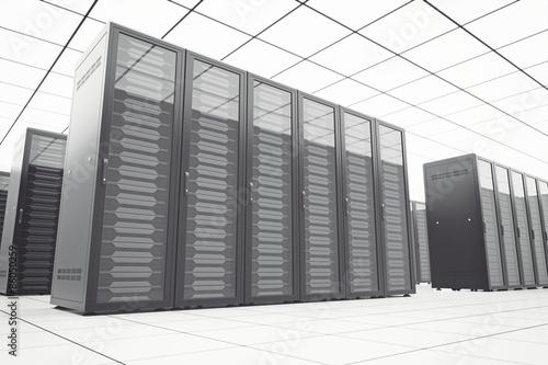 Staande foto Industrial geb. Futuristic data center interior.