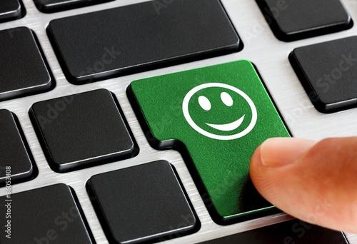 Fotografía  Bewertung online - zufrieden Smiley