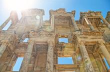 Library Of Celsus Facade In Br...