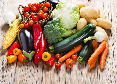 Fotobehang Fresh ripe vegetables