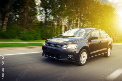 Fotografia, Obraz  Car speed fast on road