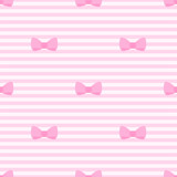 Tile vector pattern with bows on pastel pink strips background.