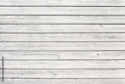 Fotografie, Obraz  Stará dřevěná deska s hřebíky v bílém