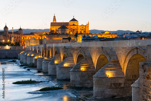 Roman bridge and Mosque-Cathedral in Cordoba