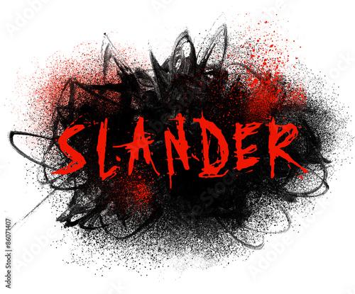 Photo Slander Typography Illustration