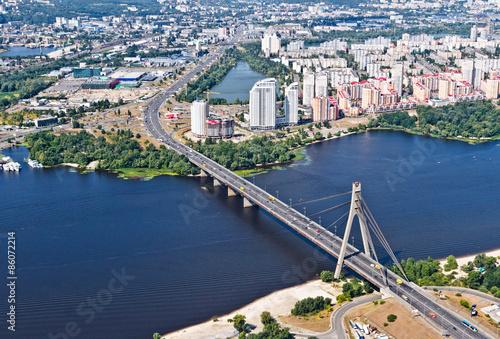Foto op Plexiglas Kiev Kiev, Moscow bridge