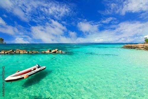 Fotografie, Obraz  Paradise beach in Koh maiton island , phuket ,Thailand