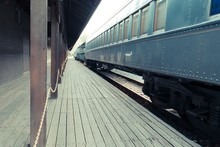 Old Train On Station