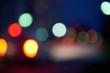 blured treffic street lights