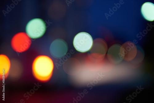 Fototapeta blured treffic street lights obraz na płótnie