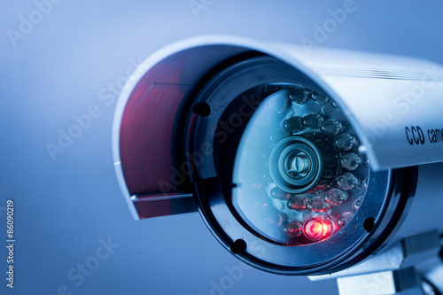 Fotografia  Security CCTV camera in office building