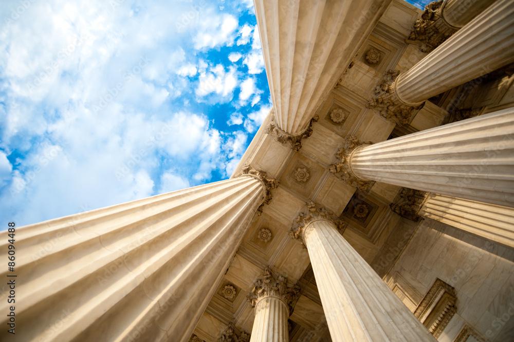 Fototapety, obrazy: Columns at the U.S. Supreme Court