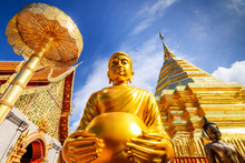 Wat Phra That Doi Suthep Is Tourist Attraction Of Chiang Mai, Th
