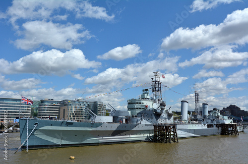 HMS Belfast (C35) London - England United Kingdom Fototapet