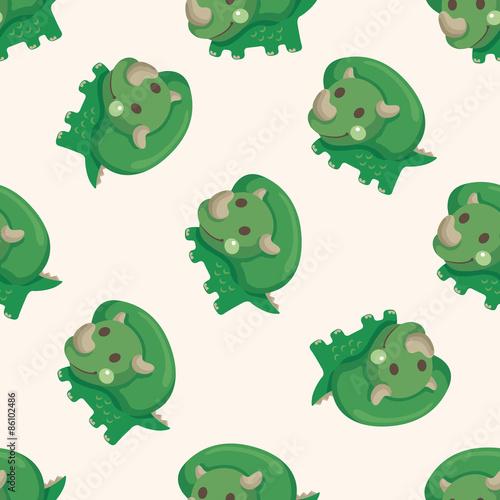 Photo  dinosaur cartoon ,seamless pattern