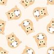 animal pig cartoon ,seamless pattern