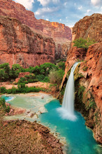 Beautiful Waterfall Flowing Near The Grand Canyon