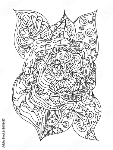 Rose Zentangle Buy This Stock Illustration And Explore Similar
