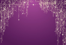 Magic Purple Glitter Background